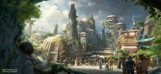 Artist's concept of Star Wars Land (photo credit: Disney/Lucasfilm)